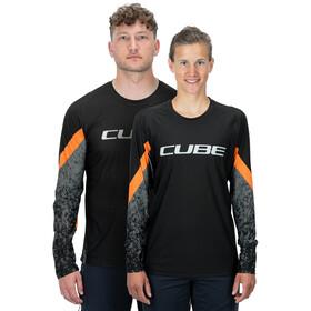 Cube Edge Jersey Longsleeve Ronde Hals Heren, black´n´orange